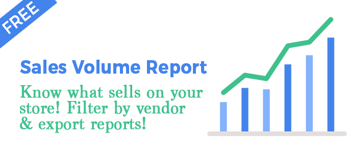 RELIC SALES VOLUME REPORT ( SHOPIFY APP ) | ThemeRelic | E